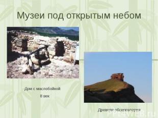 Музеи под открытым небом Дом с маслобойкой 8 векДревняя обсерватория