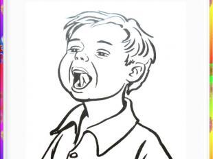 Шесть - почистим наше нёбо,Нёбо чистым стало чтобы.Рот широко открыть. Проводить