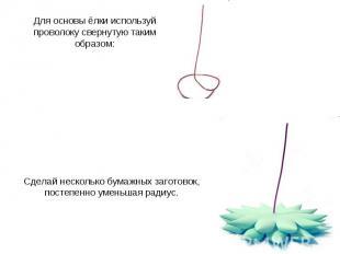 Для основы ёлки используй проволоку свернутую таким образом: Сделай несколько бу