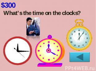 What's the time on the clocks?