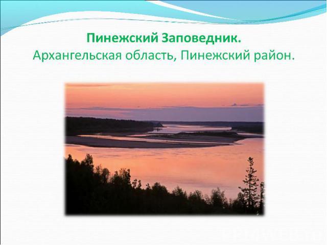 Пинежский Заповедник.Архангельская область, Пинежский район.