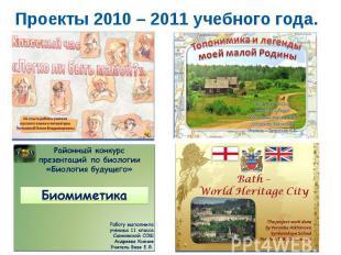Проекты 2010 – 2011 учебного года.