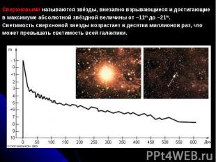 Сверхновыминазываютсязвёзды, внезапно взрывающиеся и достигающие в максимуме а