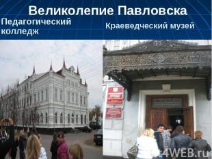 Великолепие Павловска Педагогический колледжКраеведческий музей