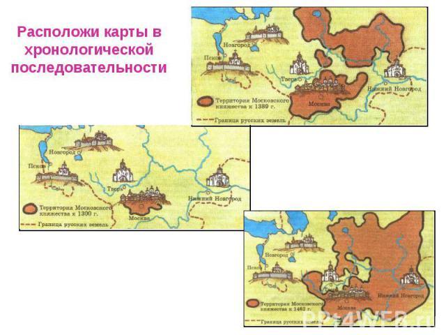 Расположи карты вхронологическойпоследовательности