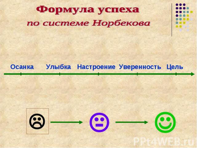 Формула успехапо системе Норбекова