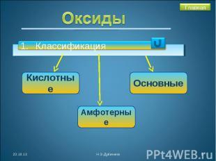 Оксиды Классификация