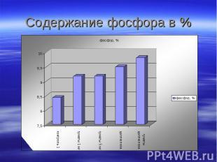 Содержание фосфора в %