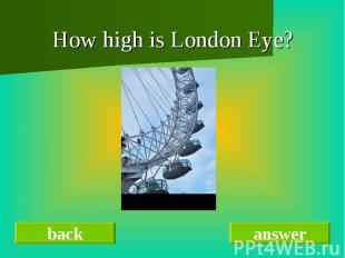 How high is London Eye?