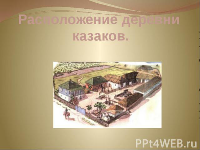 Расположение деревни казаков.