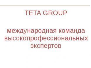 TETA GROUP TETA GROUP международная команда высокопрофессиональных экспертов