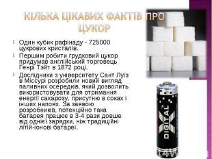 Один кубик рафінаду - 725000 цукрових кристалів. Один кубик рафінаду - 725000 цу