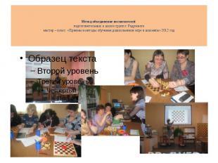Метод объединение воспитателей подготовительных к школе групп г. Радужного масте