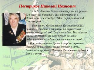 Пестриков Николай Иванович