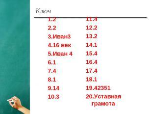 1.22.23.Иван34.16 век5.Иван 46.17.48.19.1410.311.412.213.214.115.416.417.418.119