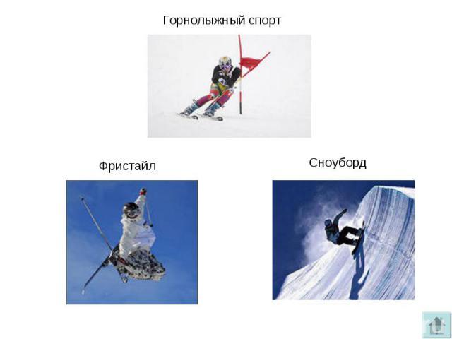 Горнолыжный спортФристайлСноуборд