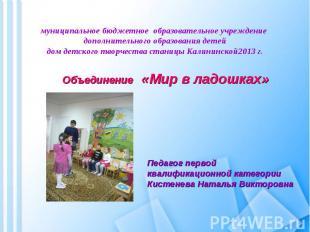 муниципальное бюджетное образовательное учреждение дополнительного образования д