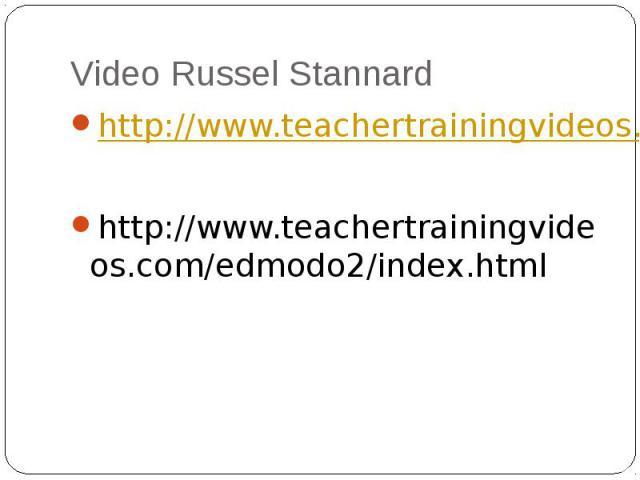 Video Russel Stannard http://www.teachertrainingvideos.com/edmodo1/index.htmlhttp://www.teachertrainingvideos.com/edmodo2/index.html