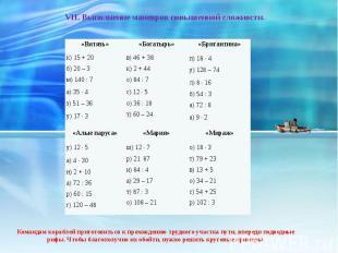 VII. Выполнение маневров повышенной сложности. Командам кораблей приготовиться к