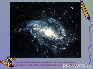По логарифмическим спиралям закручены и многие галактики, в частности – Галактик