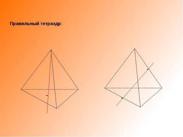 Правильный тетраэдр: