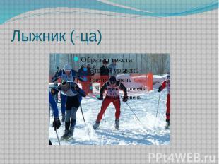 Лыжник (-ца)