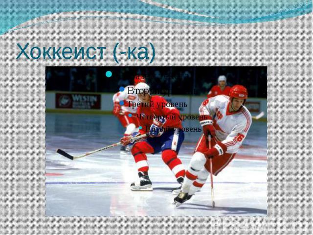 Хоккеист (-ка)