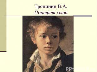 Тропинин В.А.Портрет сына