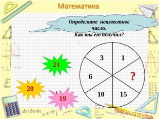Определите неизвестное число.Как ты его получил?