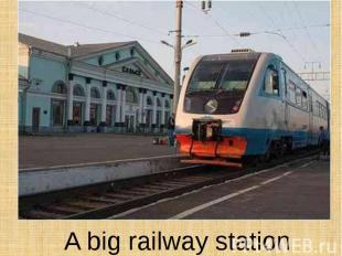 A big railway station