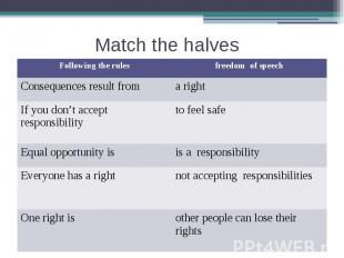 Match the halves