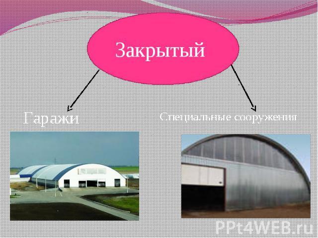 Закрытый ГаражиСпециальные сооружения