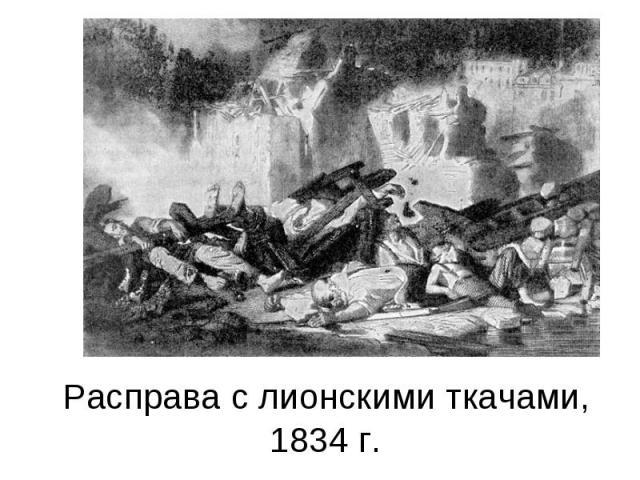 Расправа с лионскими ткачами, 1834 г.