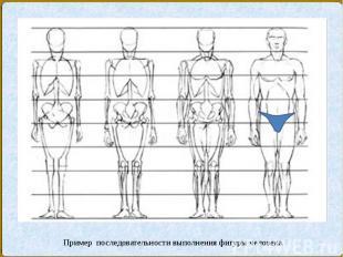 Пример последовательности выполнения фигуры человека.