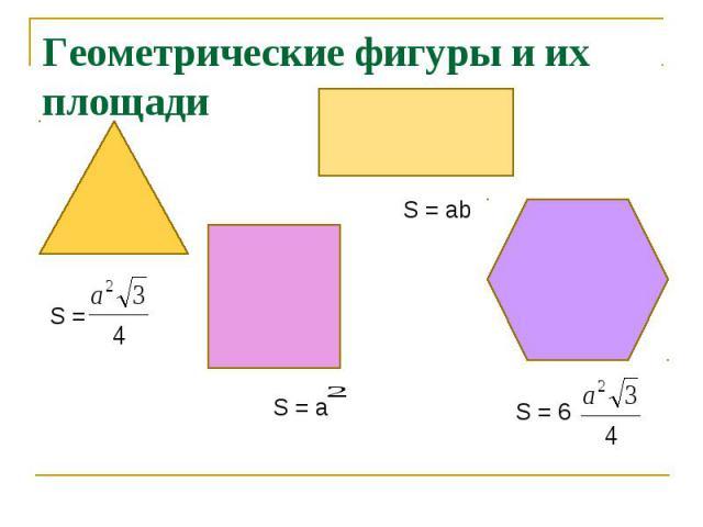 Геометрические фигуры и их площади