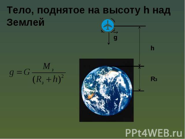 Тело, поднятое на высоту h над Землей