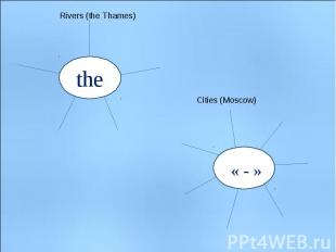 Rivers (the Thames) Cities (Moscow)
