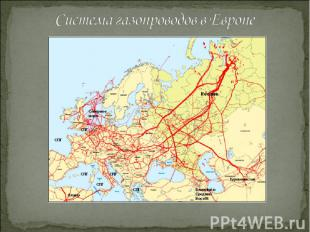 Система газопроводов в Европе