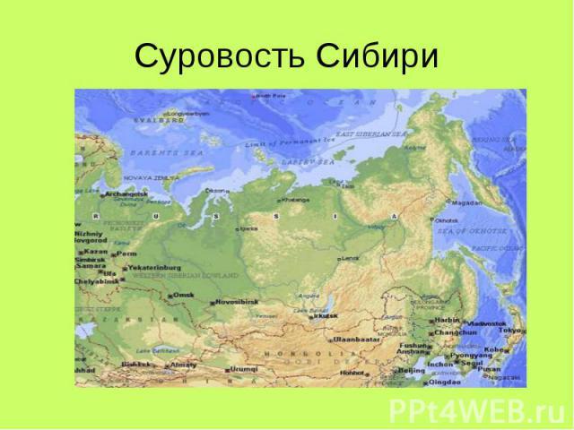 Суровость Сибири
