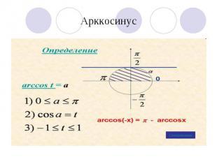 Арккосинус