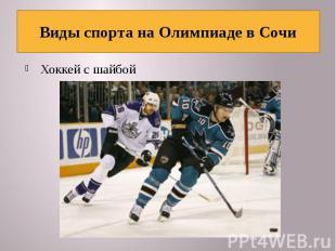 Виды спорта на Олимпиаде в Сочи Хоккей с шайбой
