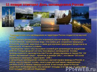 11 января отмечают День заповедников России Географическая сеть заповедников на