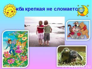 Дружба крепкая не сломается…