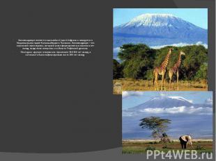 Килиманджаро является высочайшей горой Африки и находится в Национальном парке К