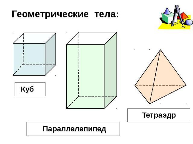 Геометрические тела: