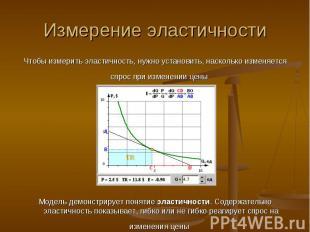 Измерение эластичности Чтобы измерить эластичность, нужно установить, насколько