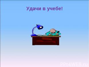 Удачи в учебе!