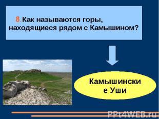 8.Как называются горы,находящиеся рядом с Камышином?Камышинские Уши