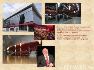 В 1999 - 2002 гг. театр становится участником ряда престижных всероссийских и ме