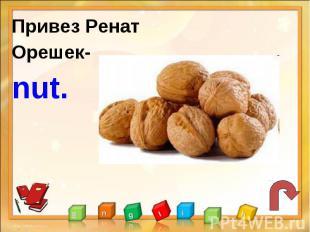 Привез РенатОрешек-nut.